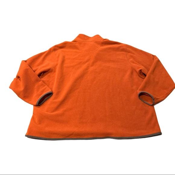 Eddie Bauer Men's Quarter Zip Pullover Orange 3XL
